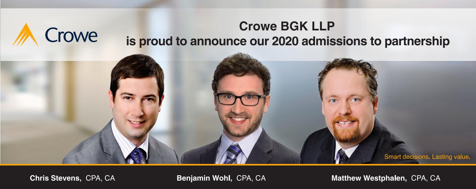 Crowe BGK Partner Announcement 2020