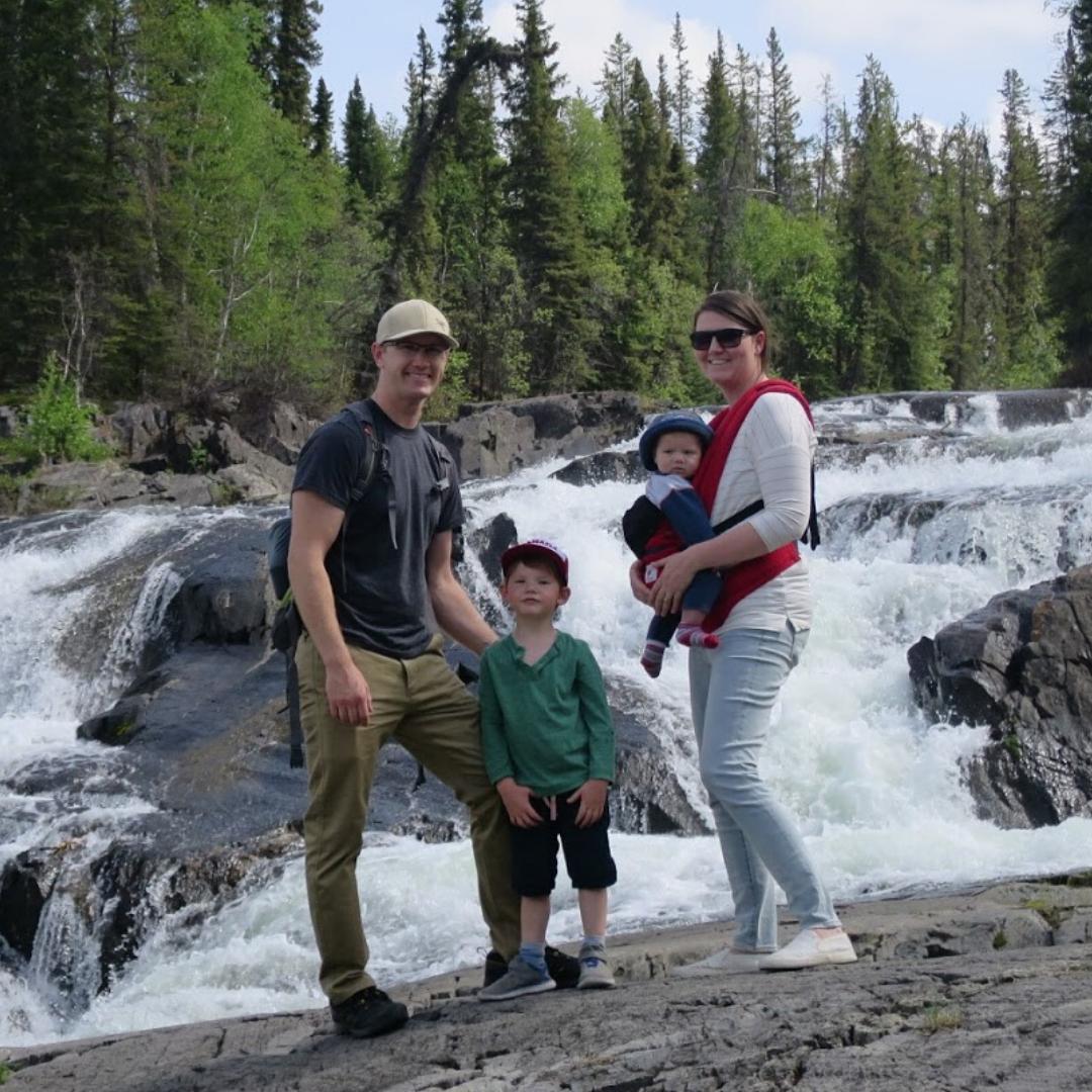 Family-Hike-Outside-Yellowknife