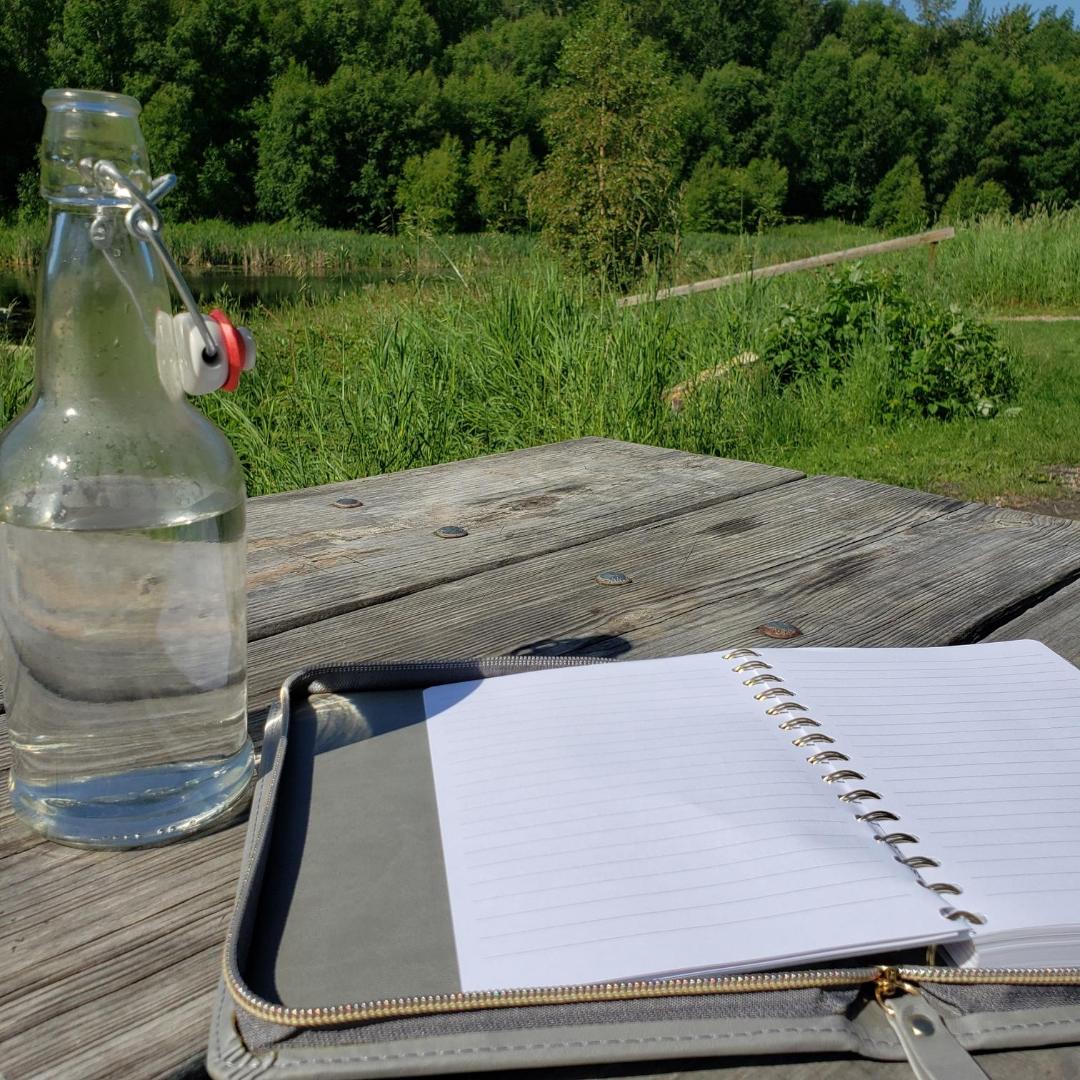 Alena Christie Glass Water Bottle