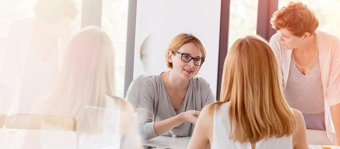 Our people: ladies talking