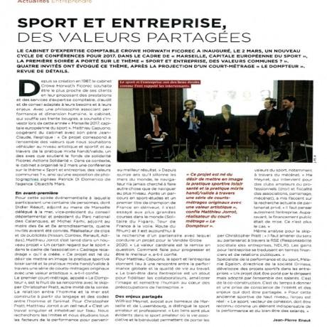 Sport & Entreprises des valeurs partagées