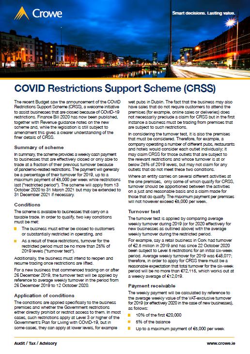 CRSS factsheet - Crowe Ireland