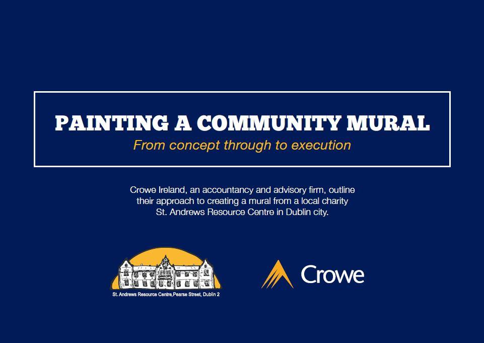 Crowe Ireland CSR - painting a community mural case study