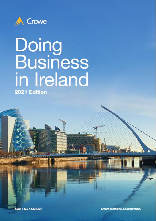 Doing Business in Ireland-2021cover - Crowe Ireland