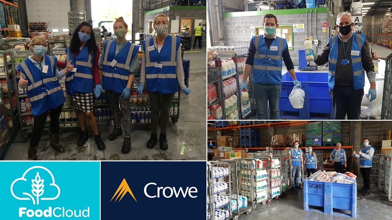 Crowe staff teams volunteer at FoodCloud