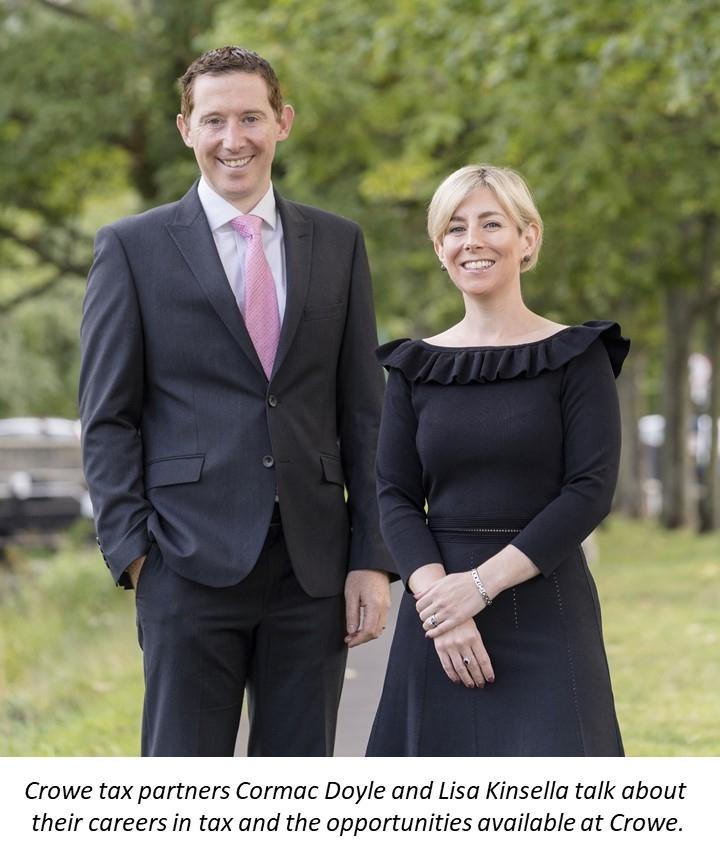 Cormac Doyle and Lisa Kinsella - Crowe Ireland