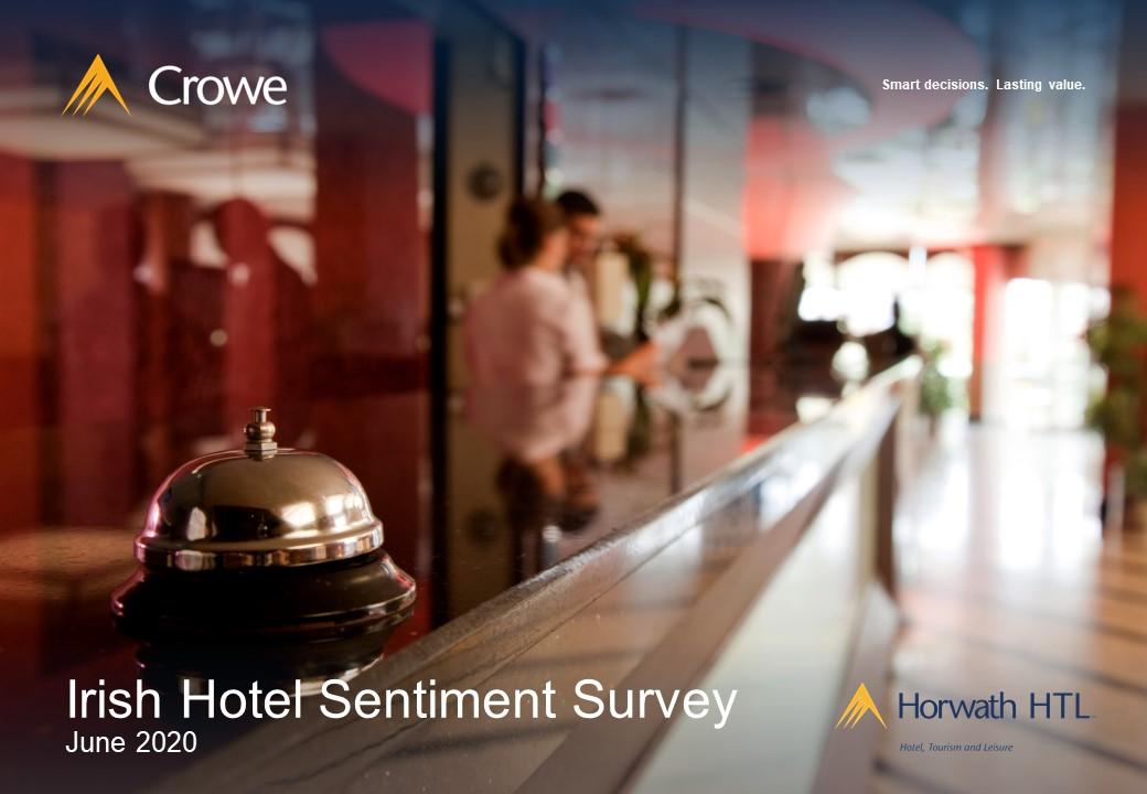 Crowe 2020 Irish Hotel Sector Sentiment Survey cover
