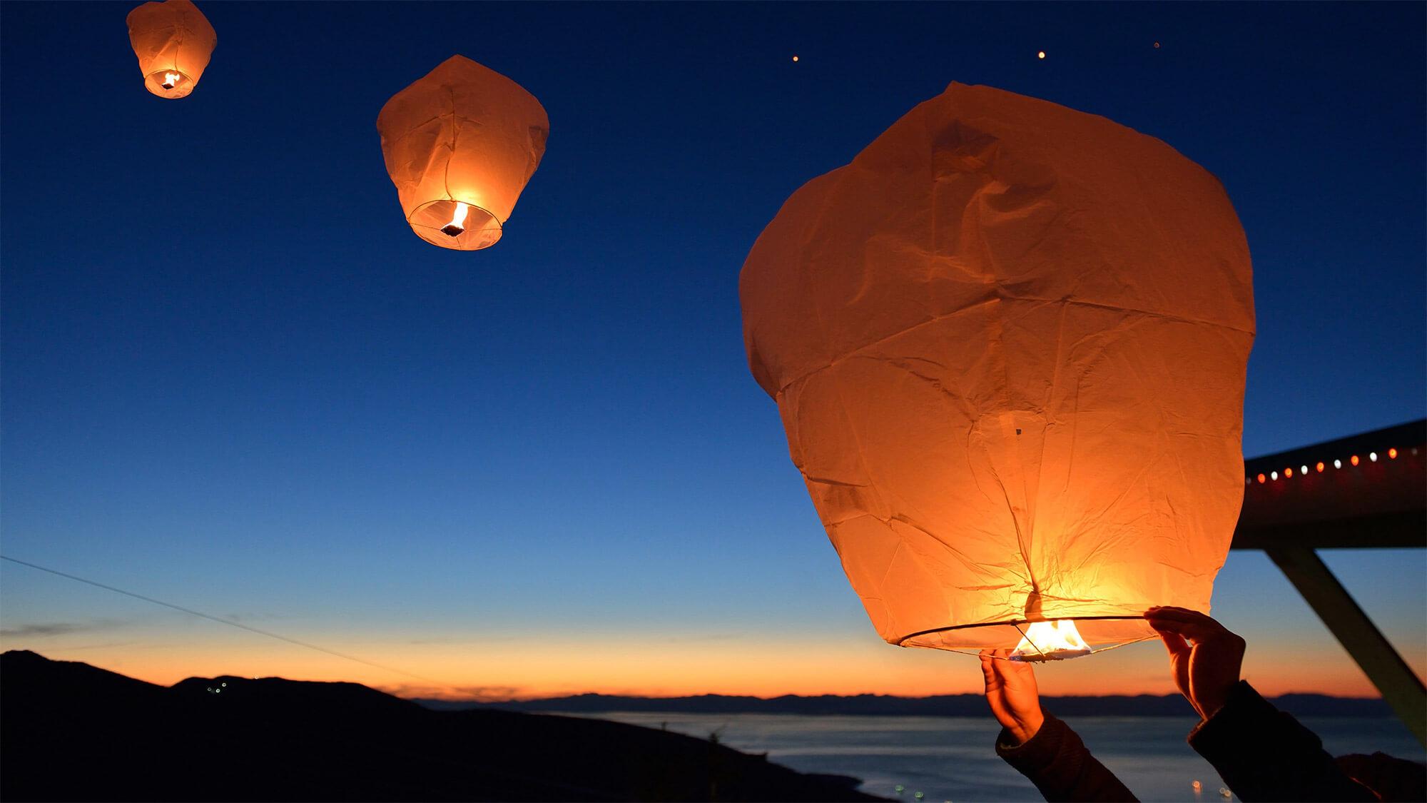 ballon floating