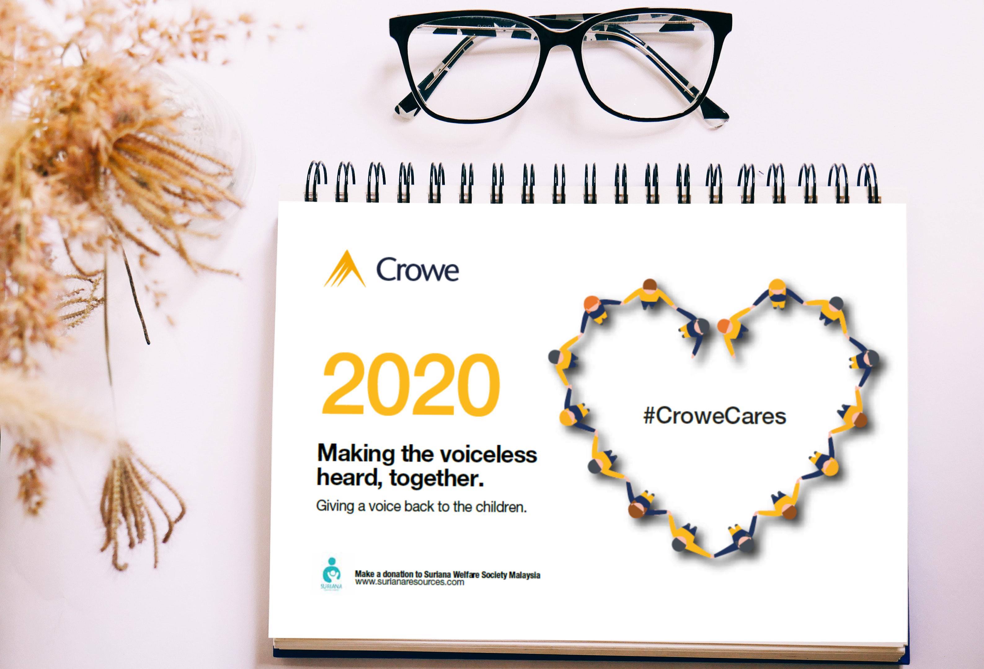 Crowe Malaysia Suriana Welfare Society, Calendar 2020