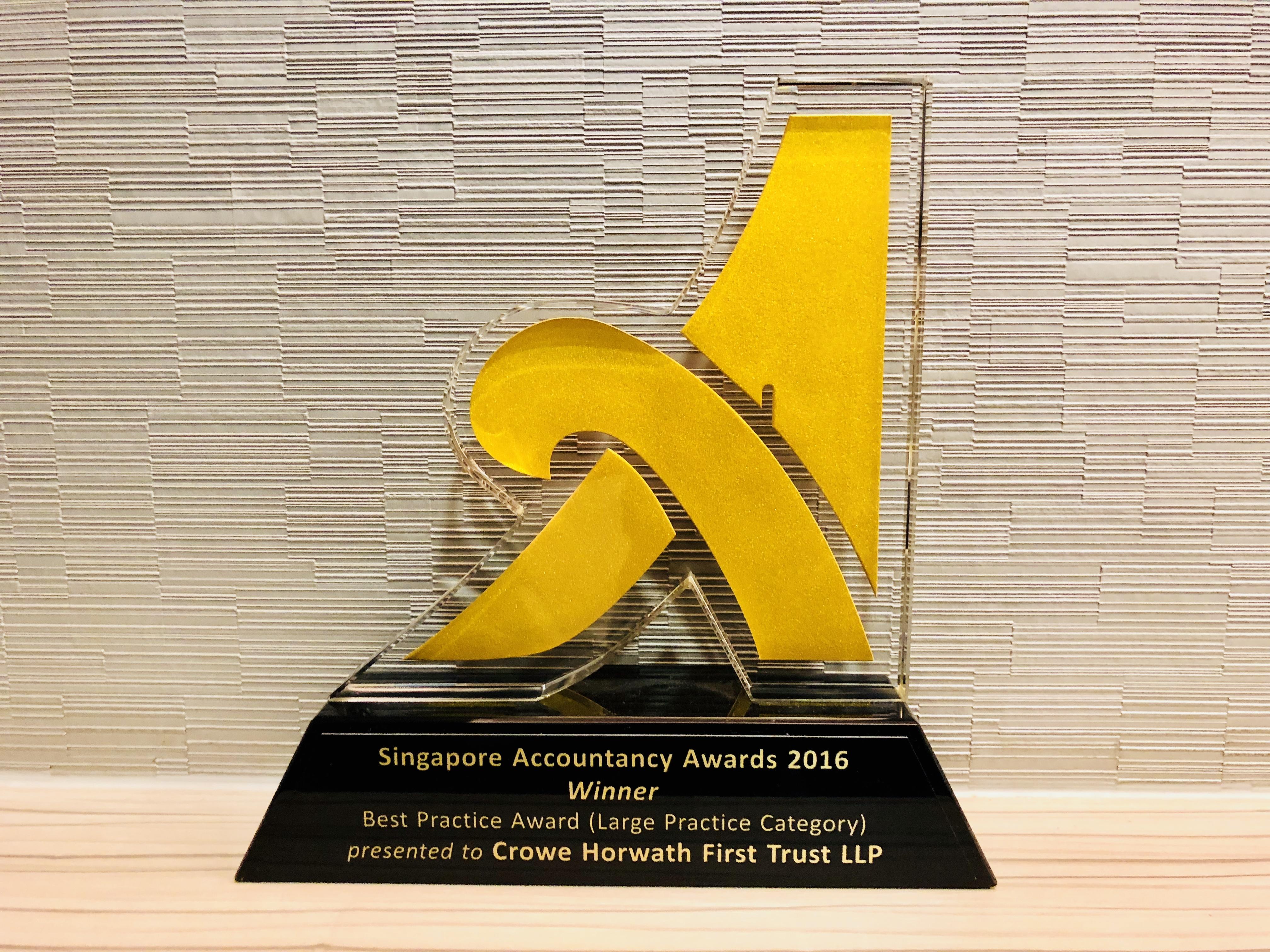 Crowe Horwath Singapore Best Practice Award 2016