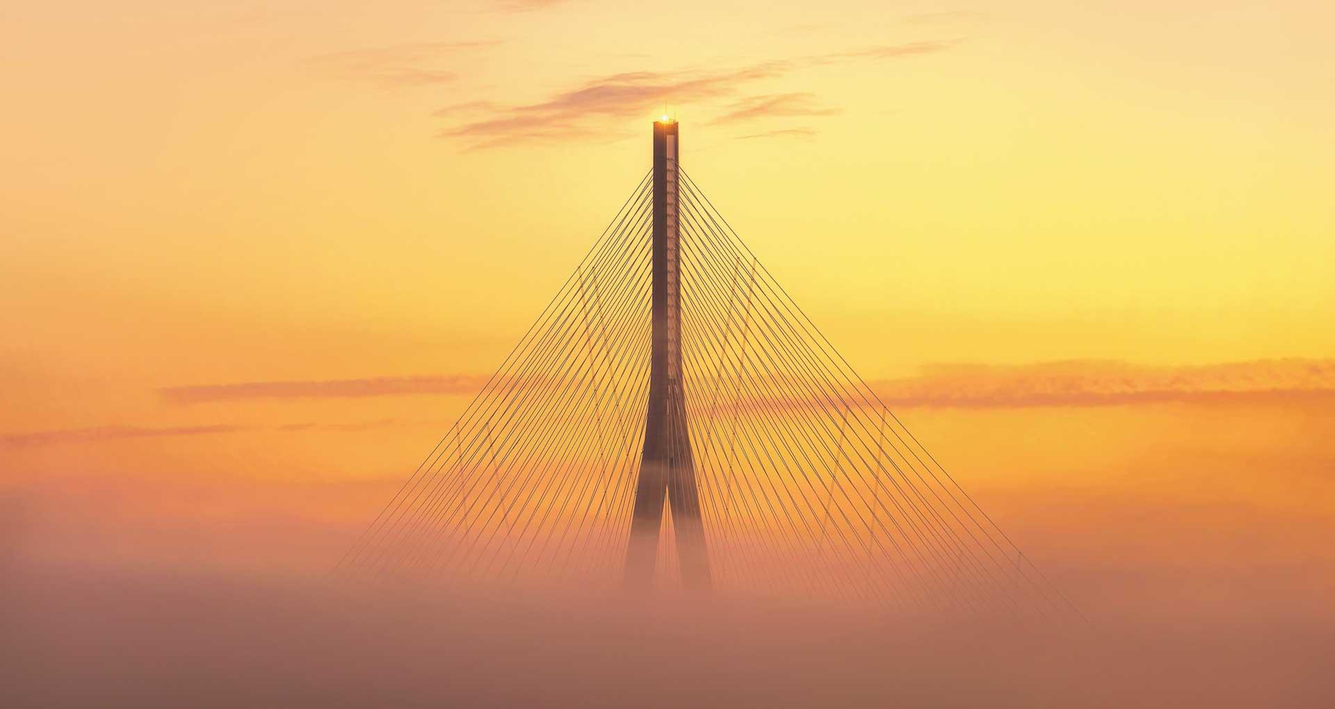 Bridge above mist