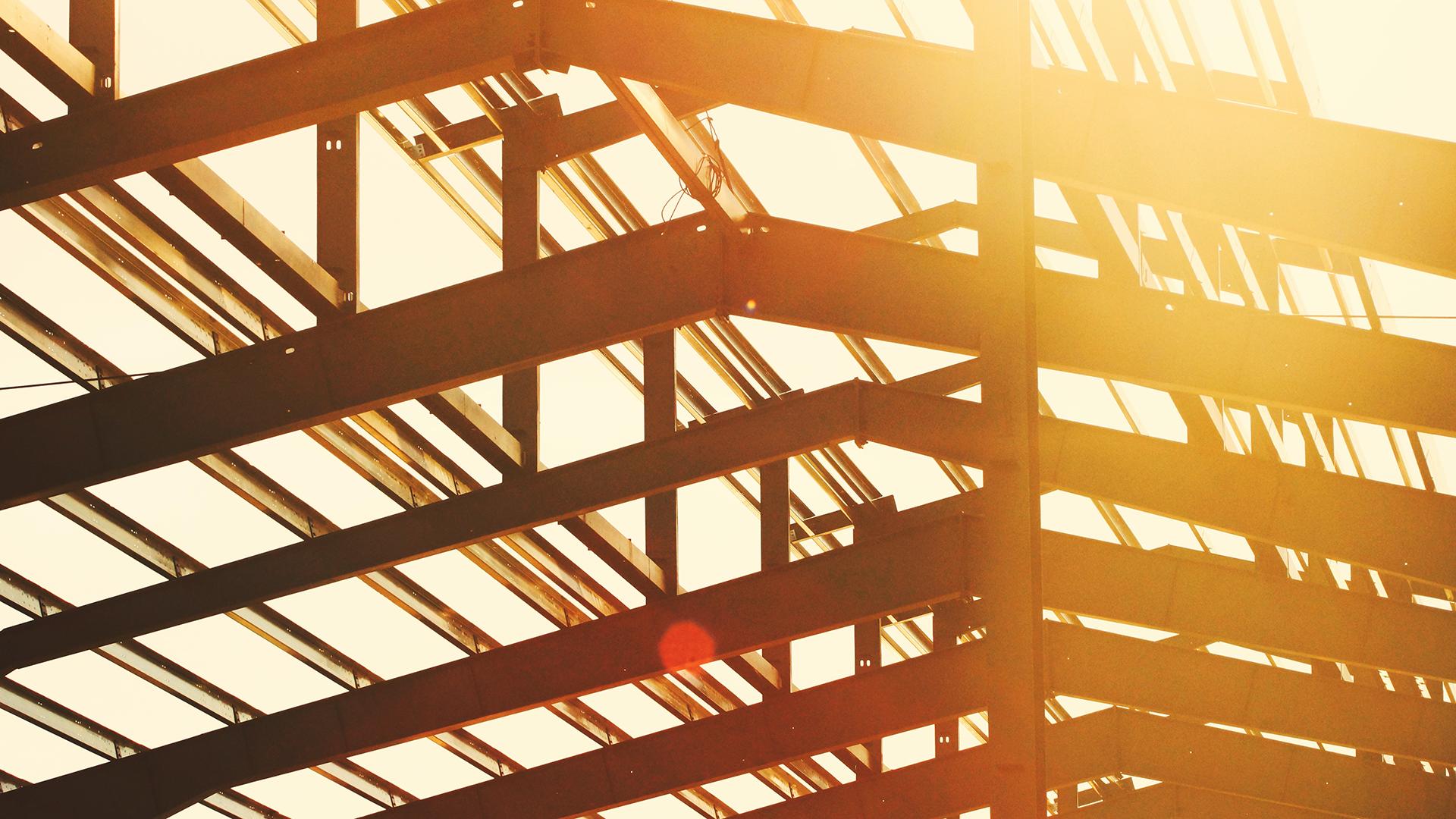Building steel beams