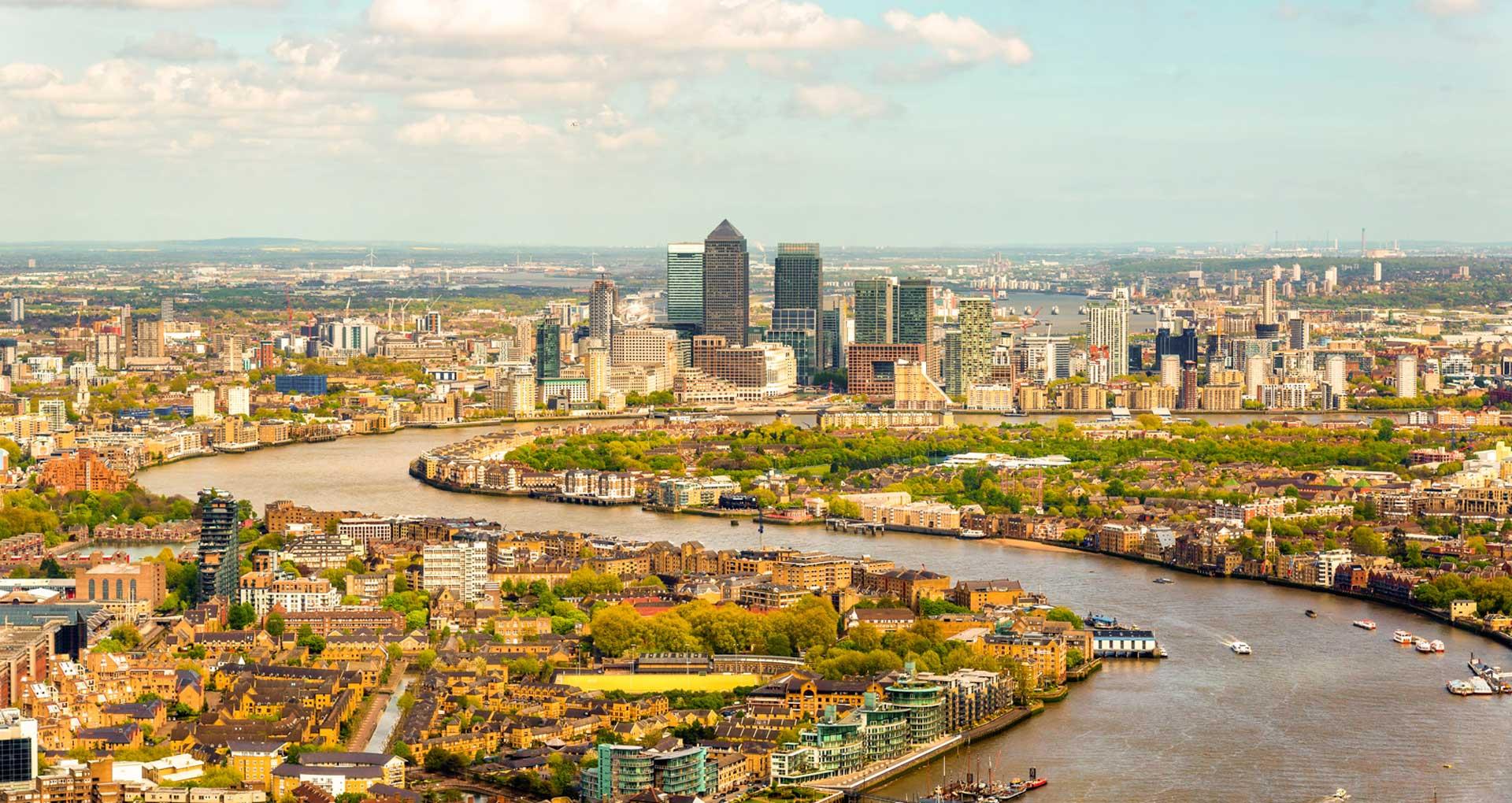 Thames aerial view